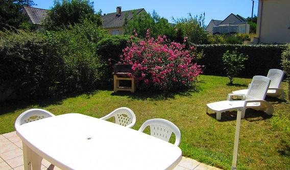 """Jardin maison de vacances pour 6 personnes """"Jersey"""" à Barneville Carteret"""