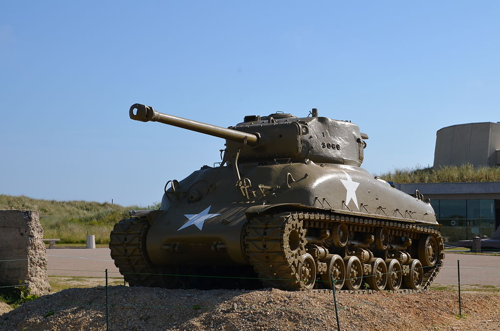Sherman Panzer in Utah Beach